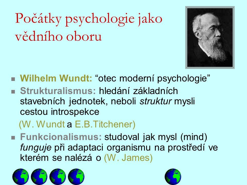 Počátky psychologie jako vědního oboru