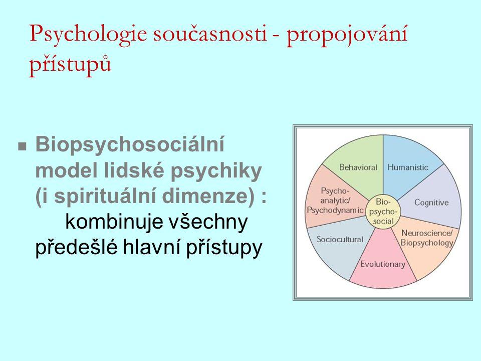 Psychologie současnosti - propojování přístupů