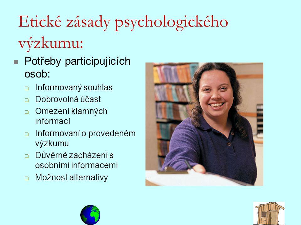 Etické zásady psychologického výzkumu:
