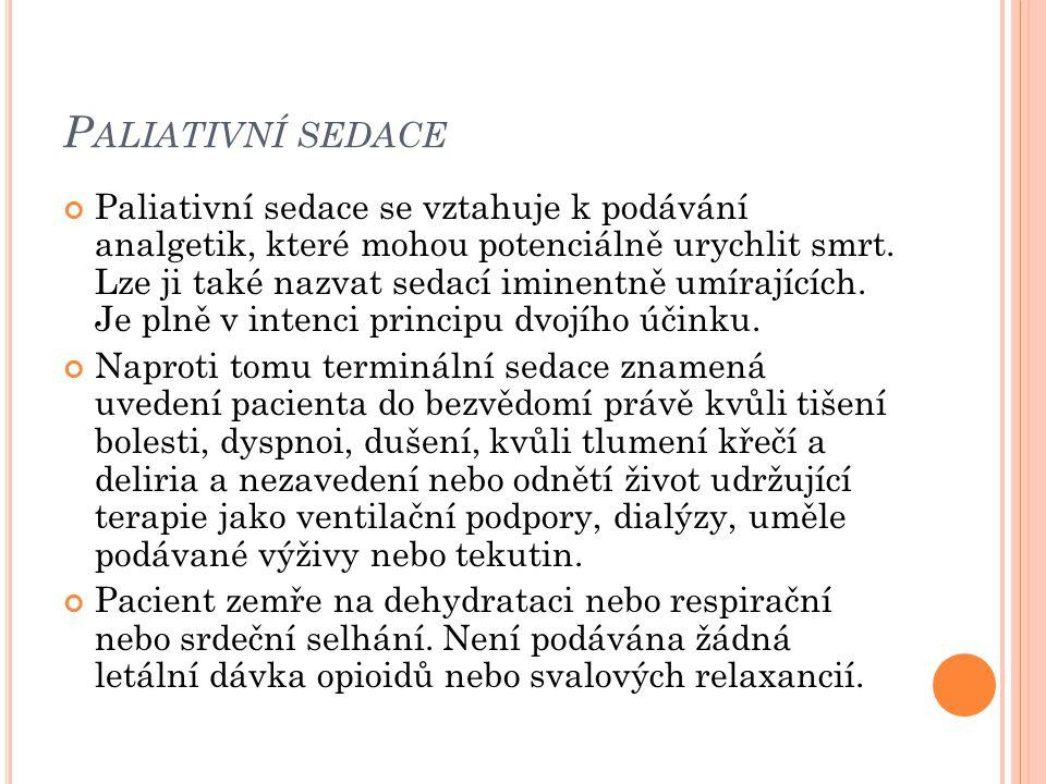 Paliativní sedace