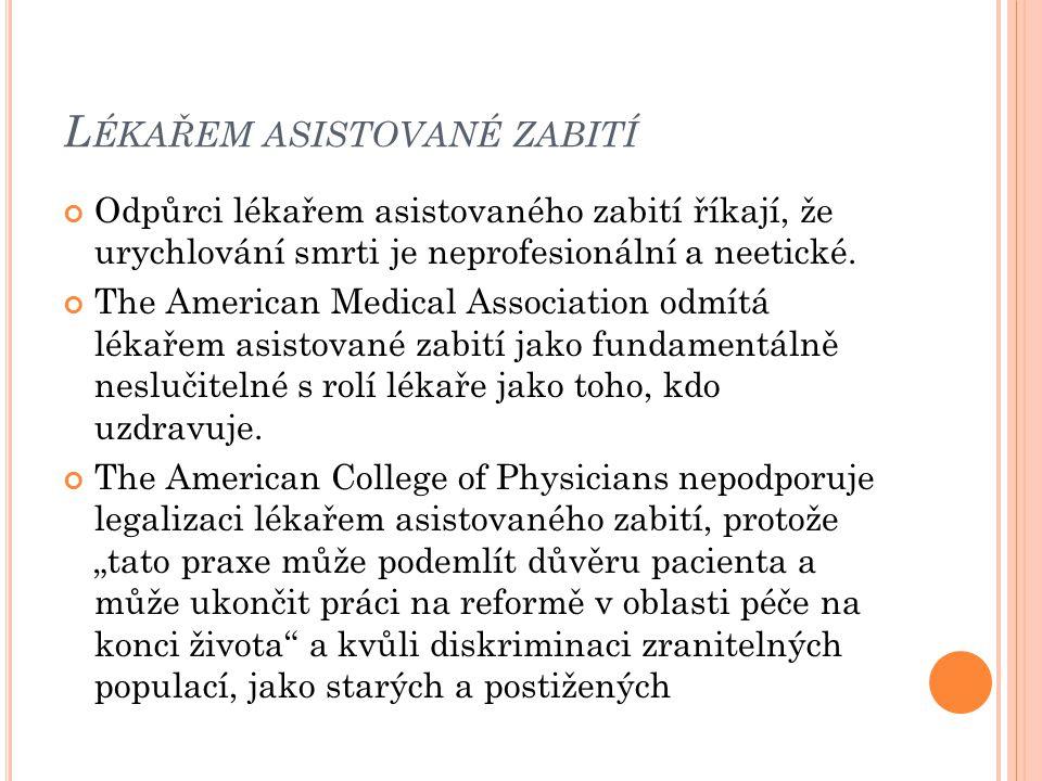 Lékařem asistované zabití