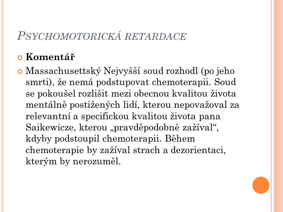 Psychomotorická retardace
