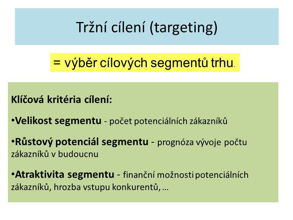 Tržní cílení (targeting)