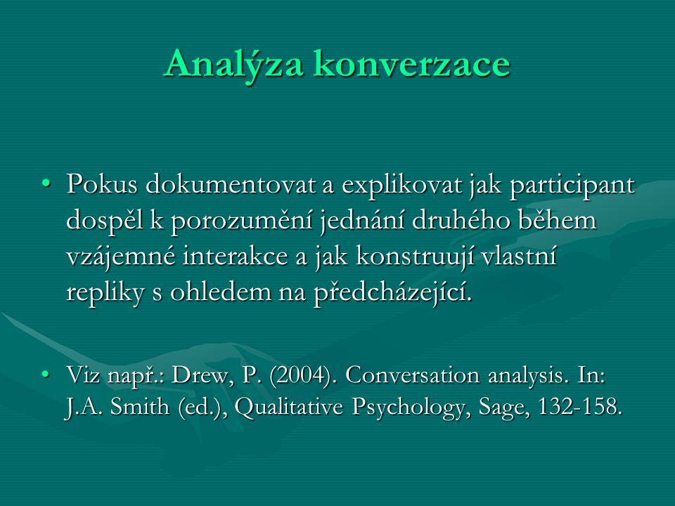 Analýza konverzace