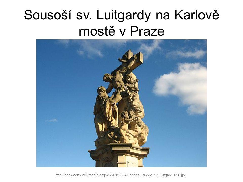 Sousoší sv. Luitgardy na Karlově mostě v Praze