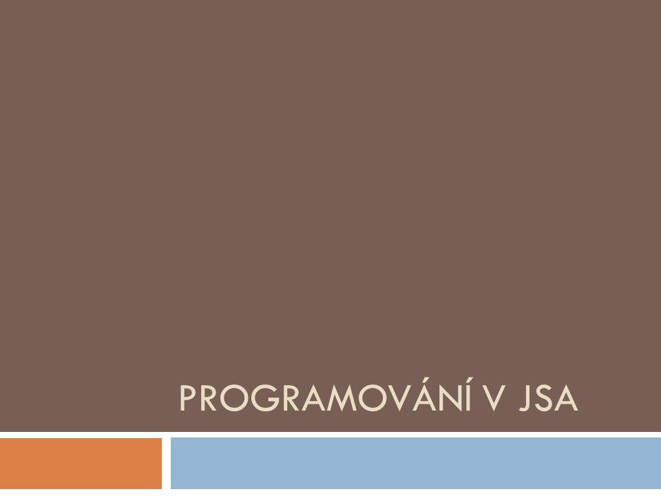 Programování v JSA