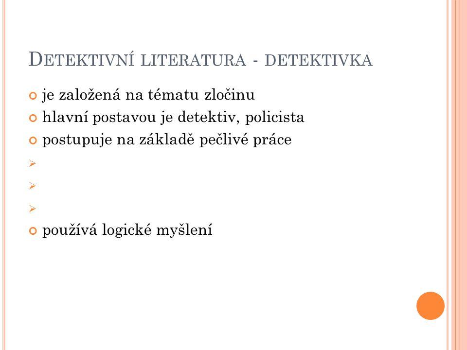 Detektivní literatura - detektivka