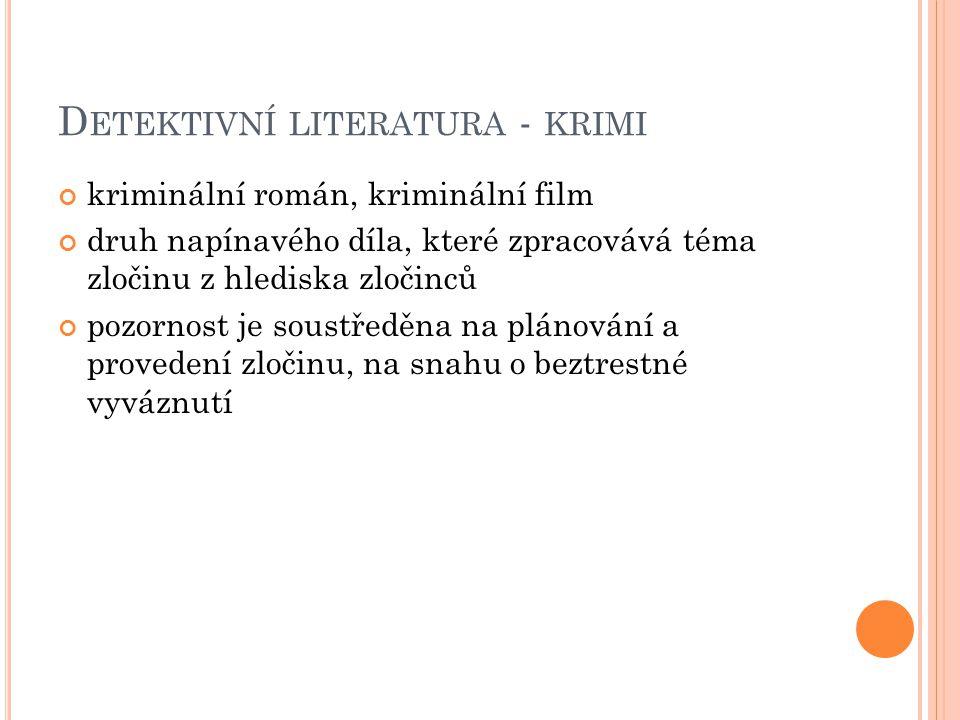 Detektivní literatura - krimi