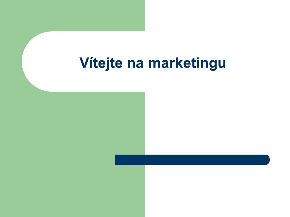 Vítejte na marketingu