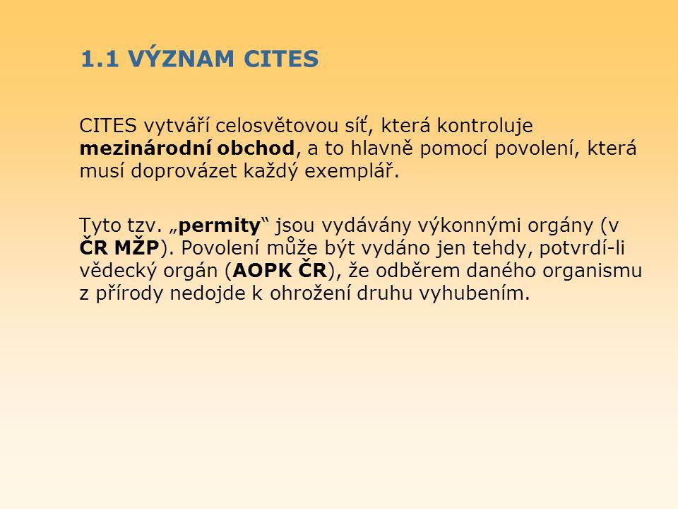 1.1 VÝZNAM CITES