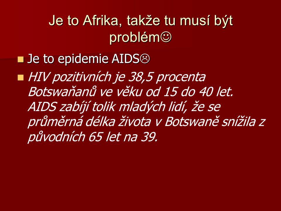 Je to Afrika, takže tu musí být problém