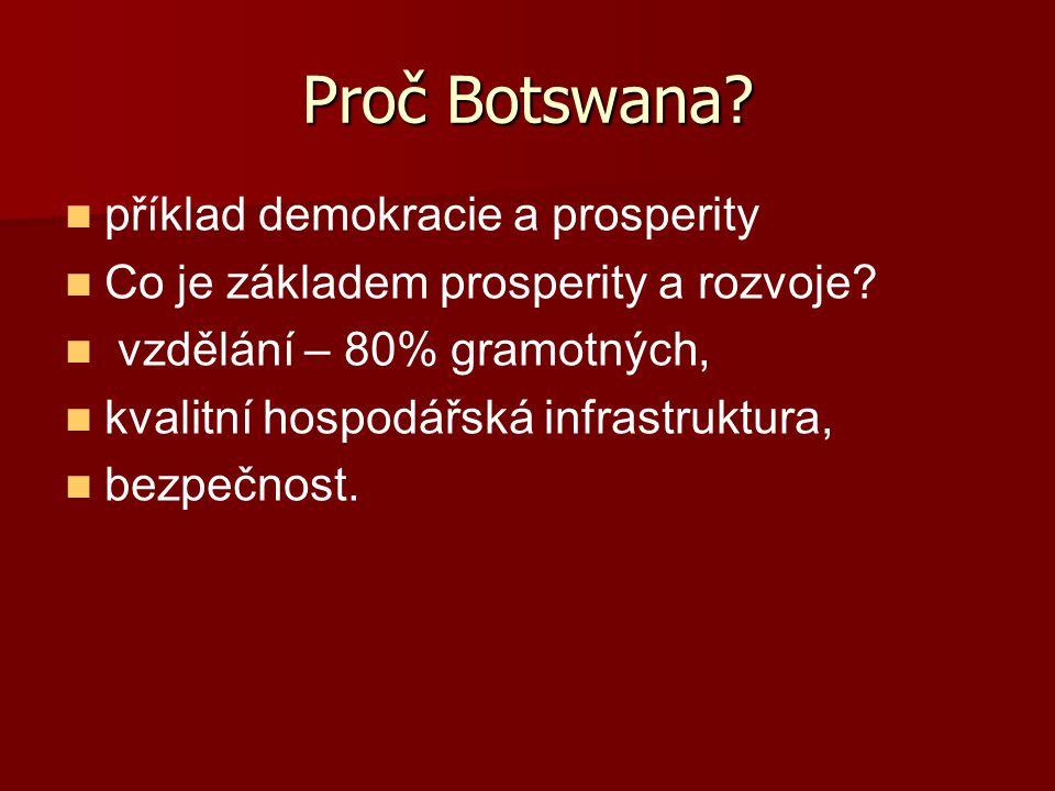 Proč Botswana příklad demokracie a prosperity