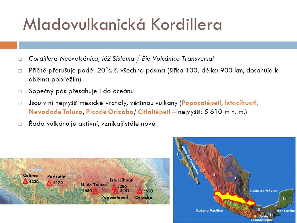 Mladovulkanická Kordillera