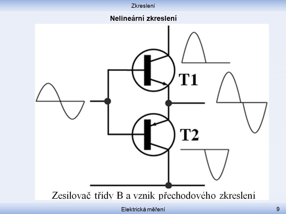 Zkreslení Nelineární zkreslení Elektrická měření