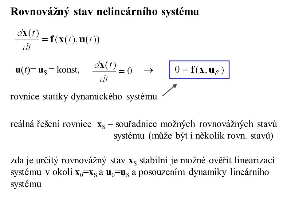 Rovnovážný stav nelineárního systému
