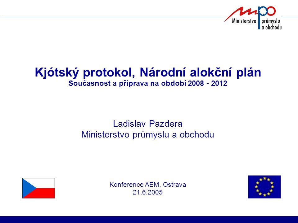 Kjótský protokol, Národní alokční plán Současnost a příprava na období 2008 - 2012