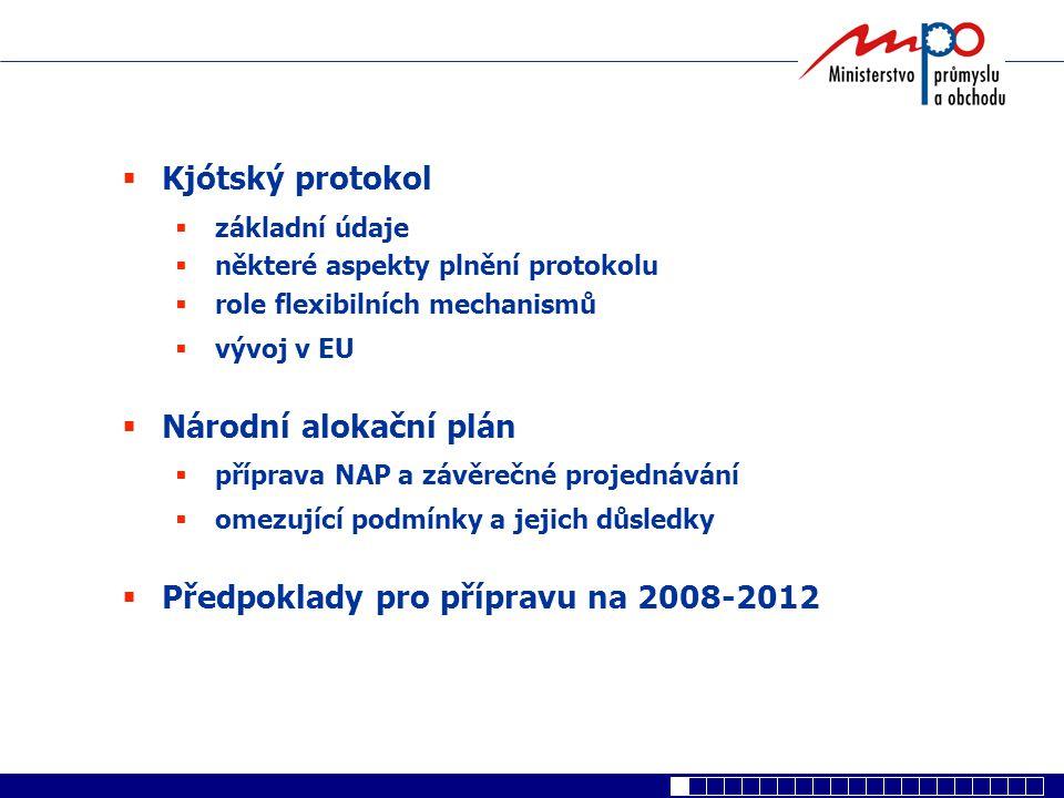 Předpoklady pro přípravu na 2008-2012