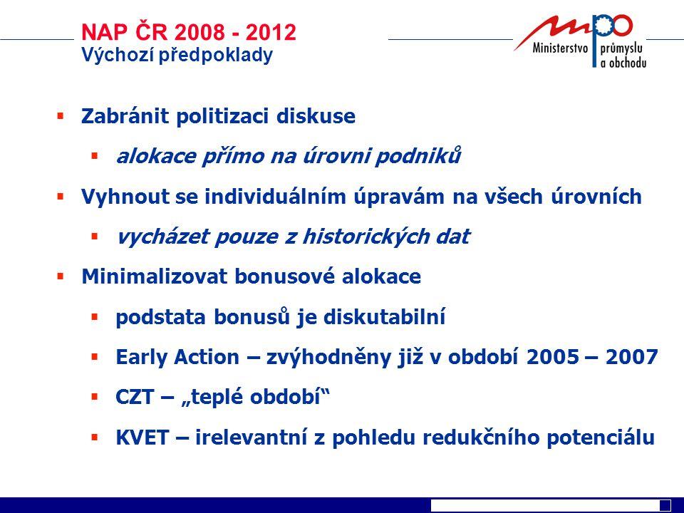 NAP ČR 2008 - 2012 Zabránit politizaci diskuse
