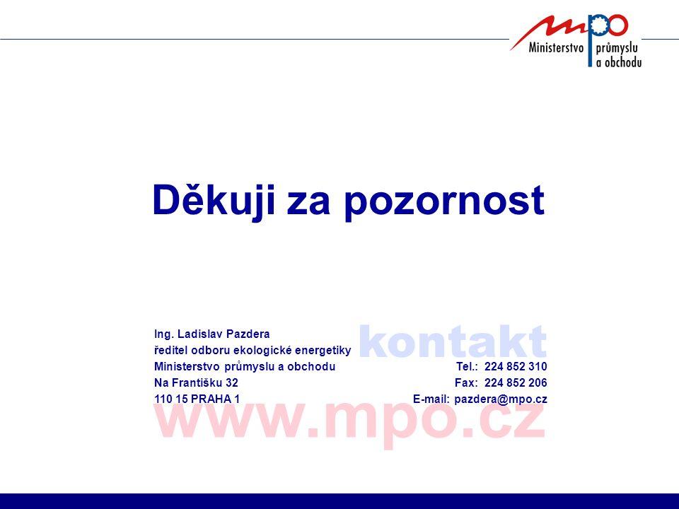 www.mpo.cz kontakt Děkuji za pozornost Ing. Ladislav Pazdera