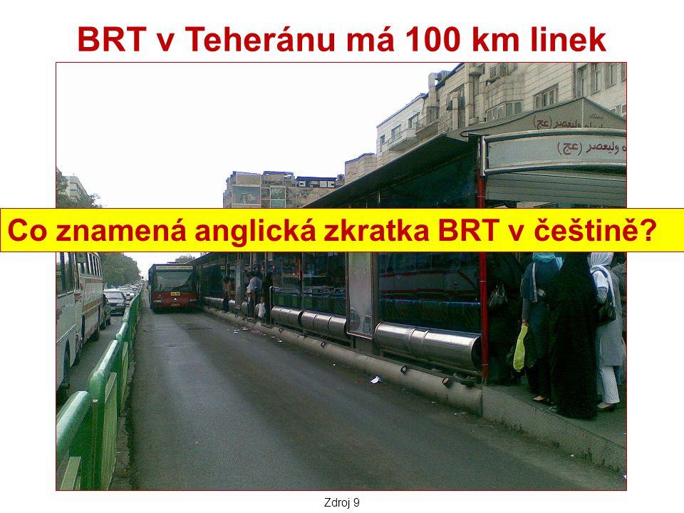 BRT v Teheránu má 100 km linek