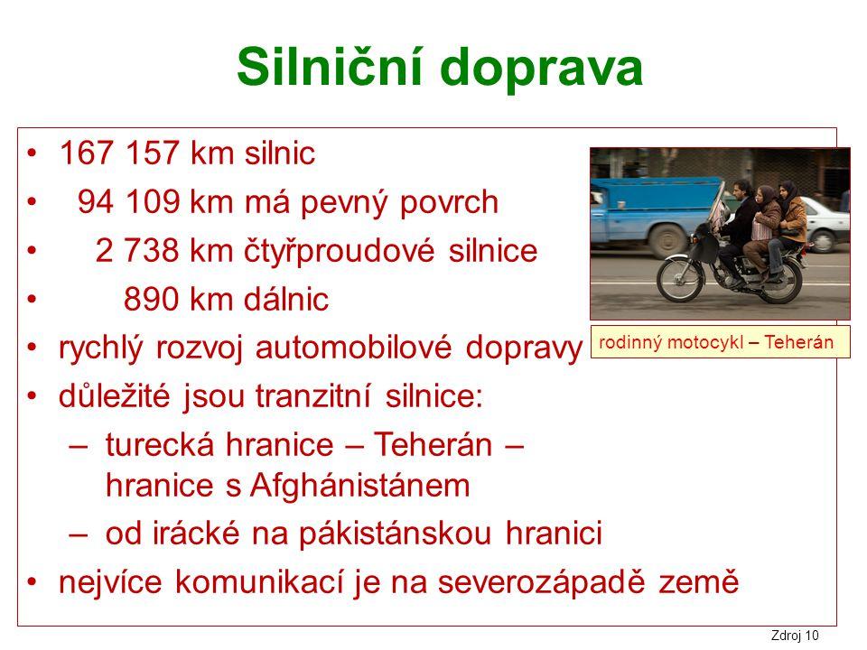 Silniční doprava 167 157 km silnic 94 109 km má pevný povrch