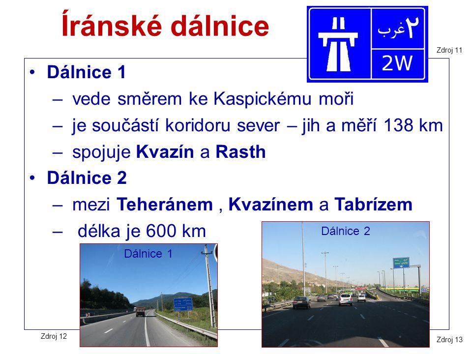 Íránské dálnice Dálnice 1 vede směrem ke Kaspickému moři