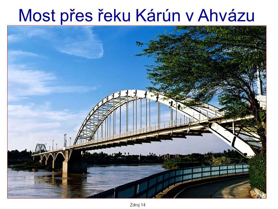 Most přes řeku Kárún v Ahvázu