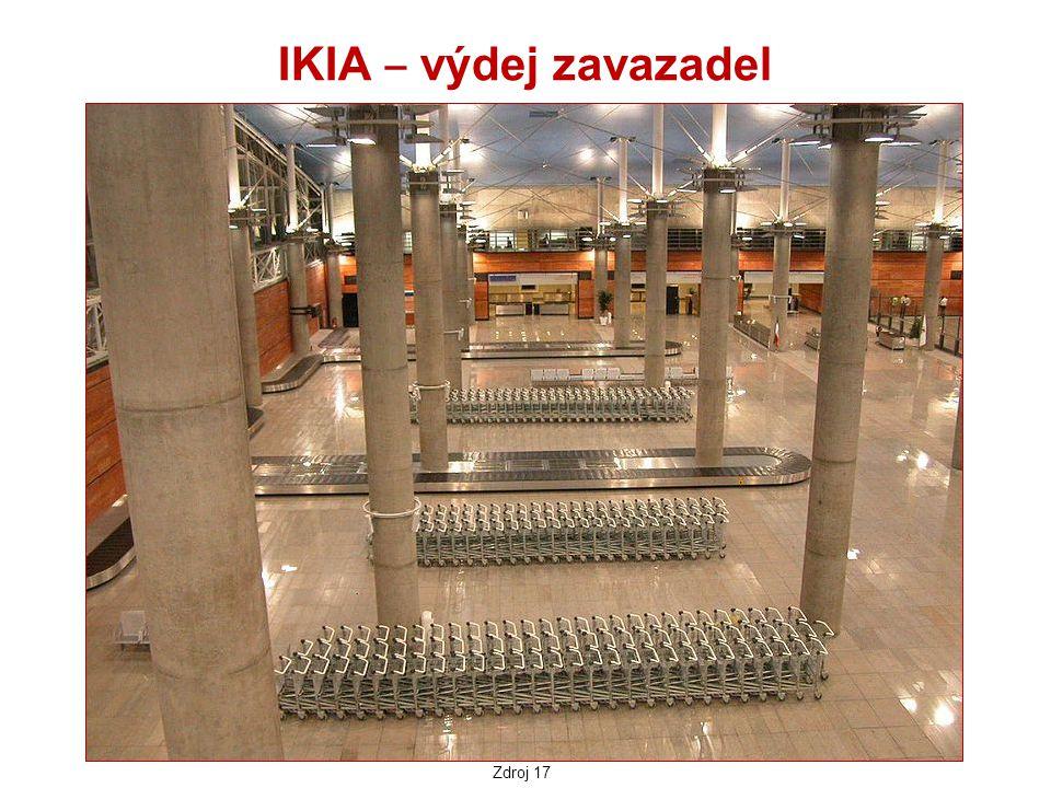 IKIA ‒ výdej zavazadel Zdroj 17