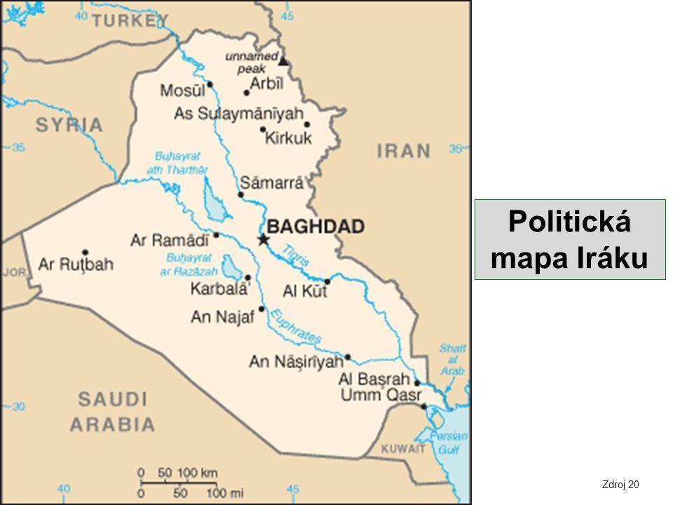Politická mapa Iráku Zdroj 20