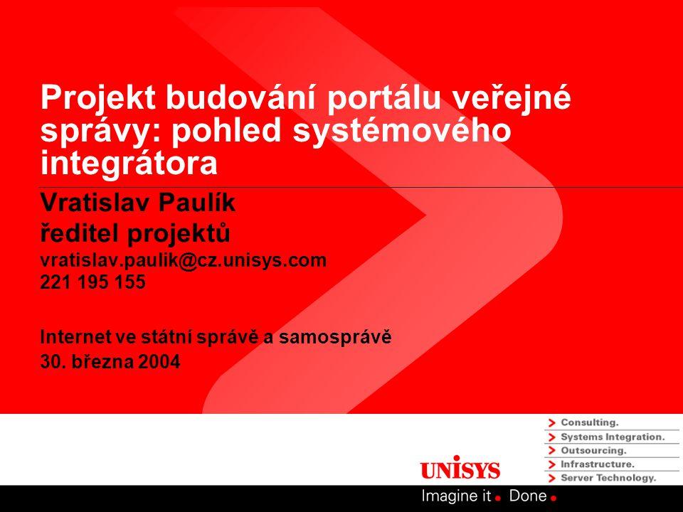 Projekt budování portálu veřejné správy: pohled systémového integrátora