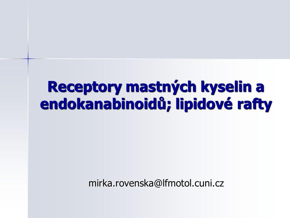 Receptory mastných kyselin a endokanabinoidů; lipidové rafty