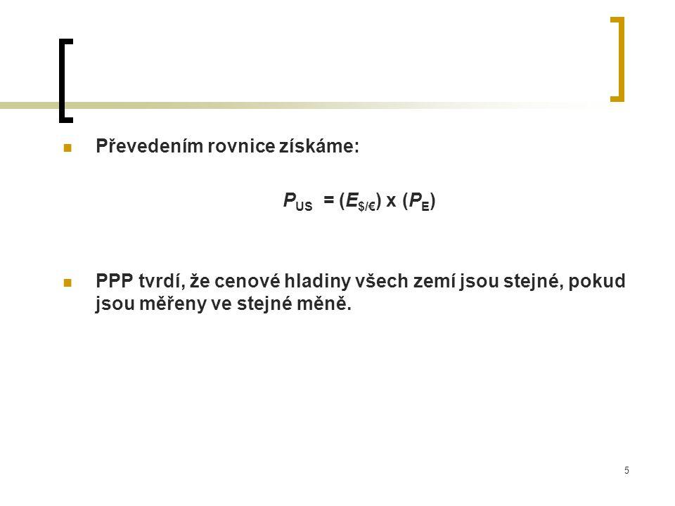 Převedením rovnice získáme: