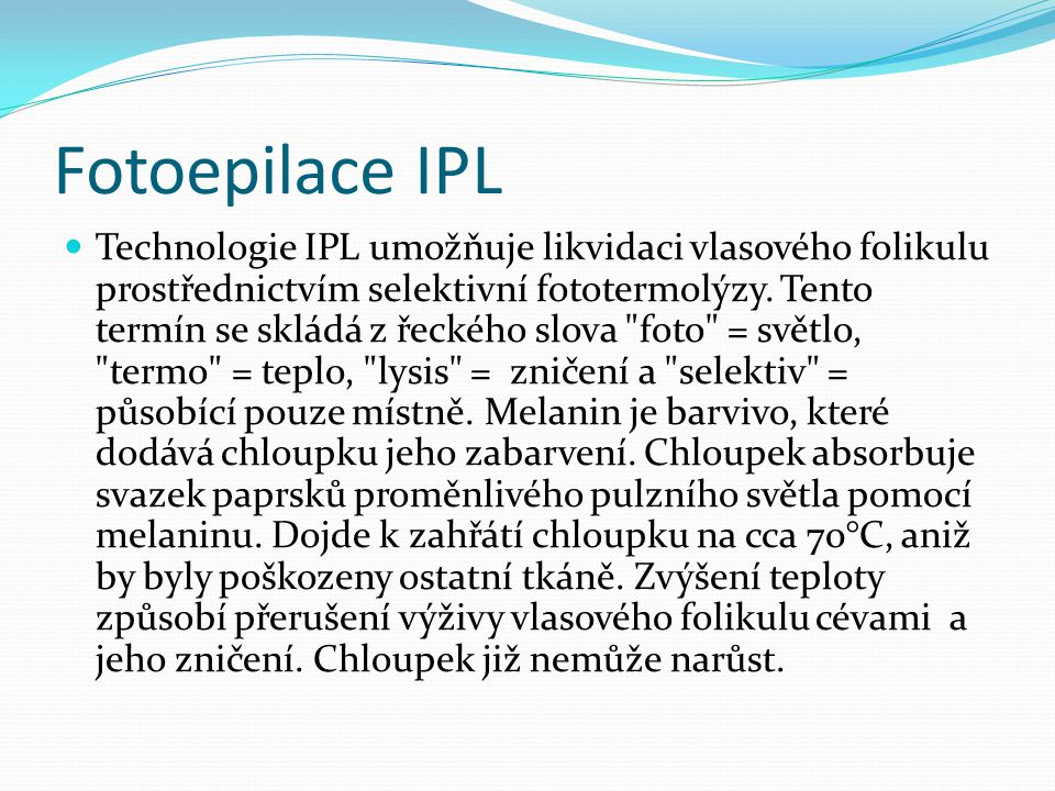 Fotoepilace IPL