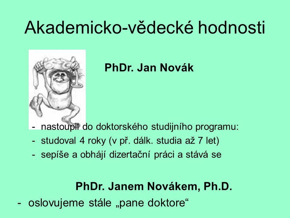 Akademicko-vědecké hodnosti