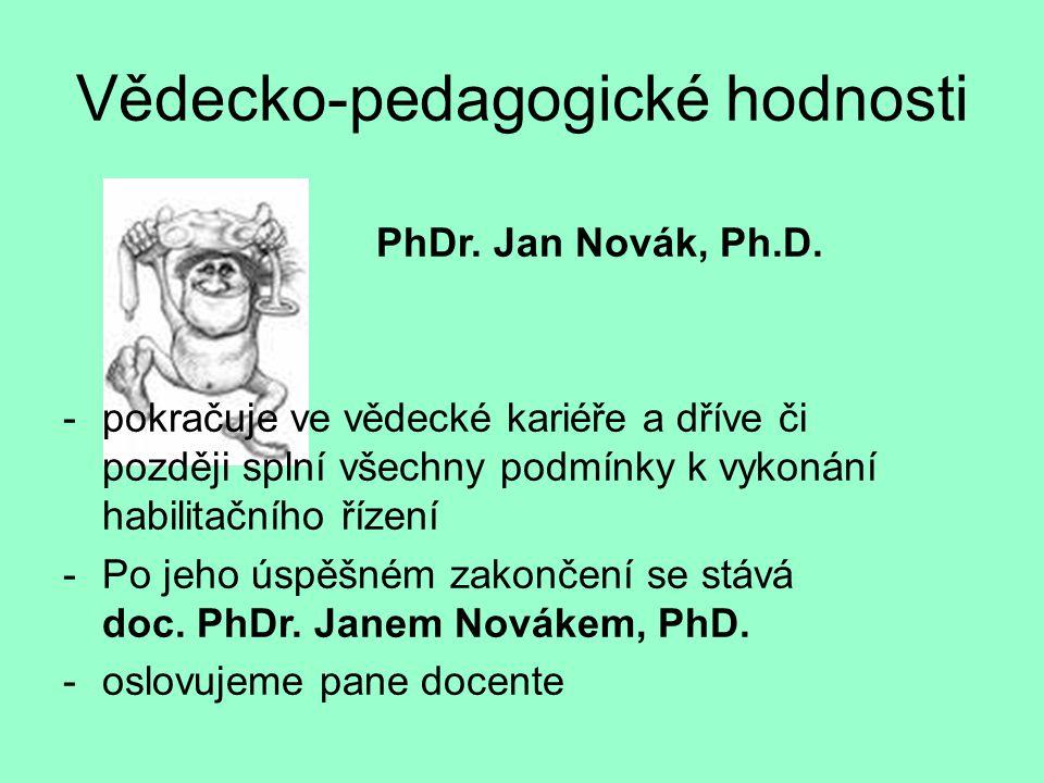 Vědecko-pedagogické hodnosti