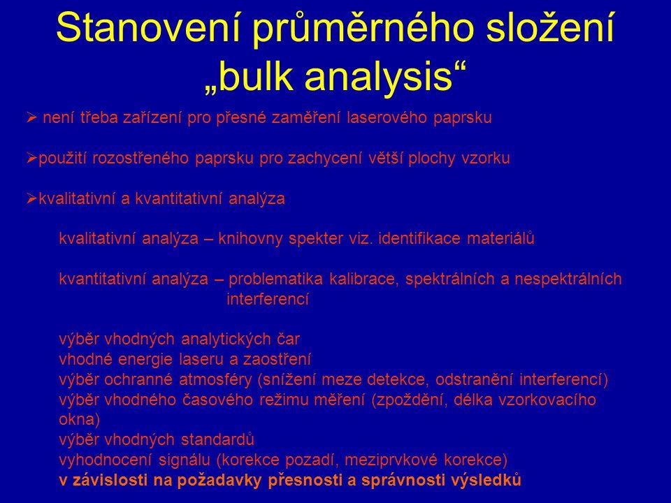 """Stanovení průměrného složení """"bulk analysis"""