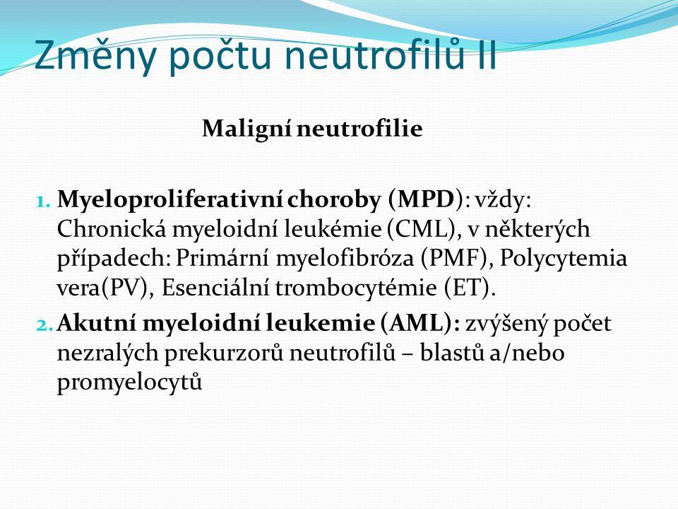Změny počtu neutrofilů II