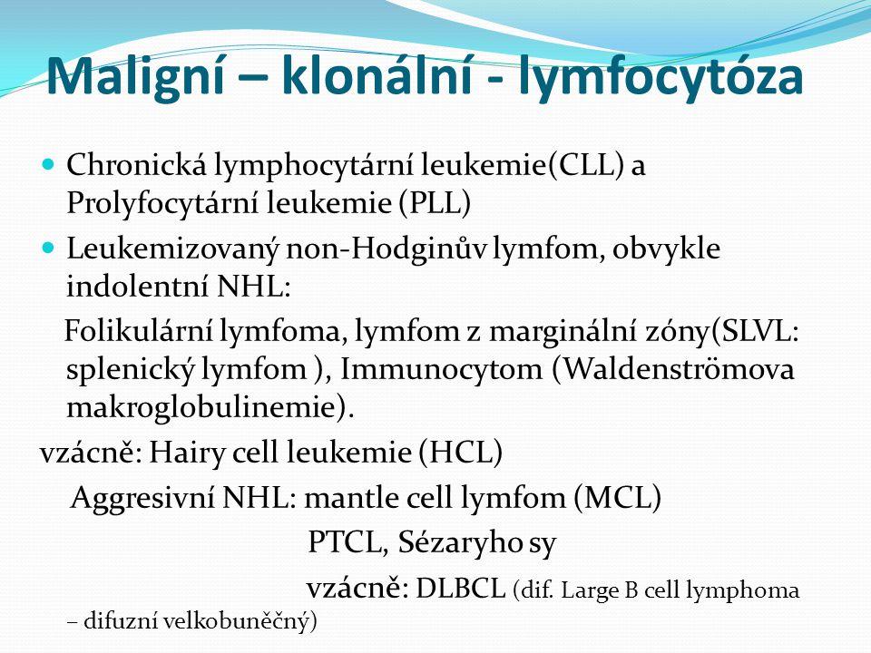 Maligní – klonální - lymfocytóza