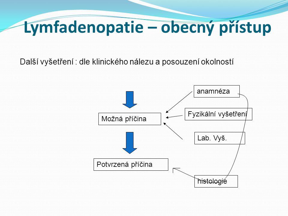 Lymfadenopatie – obecný přístup