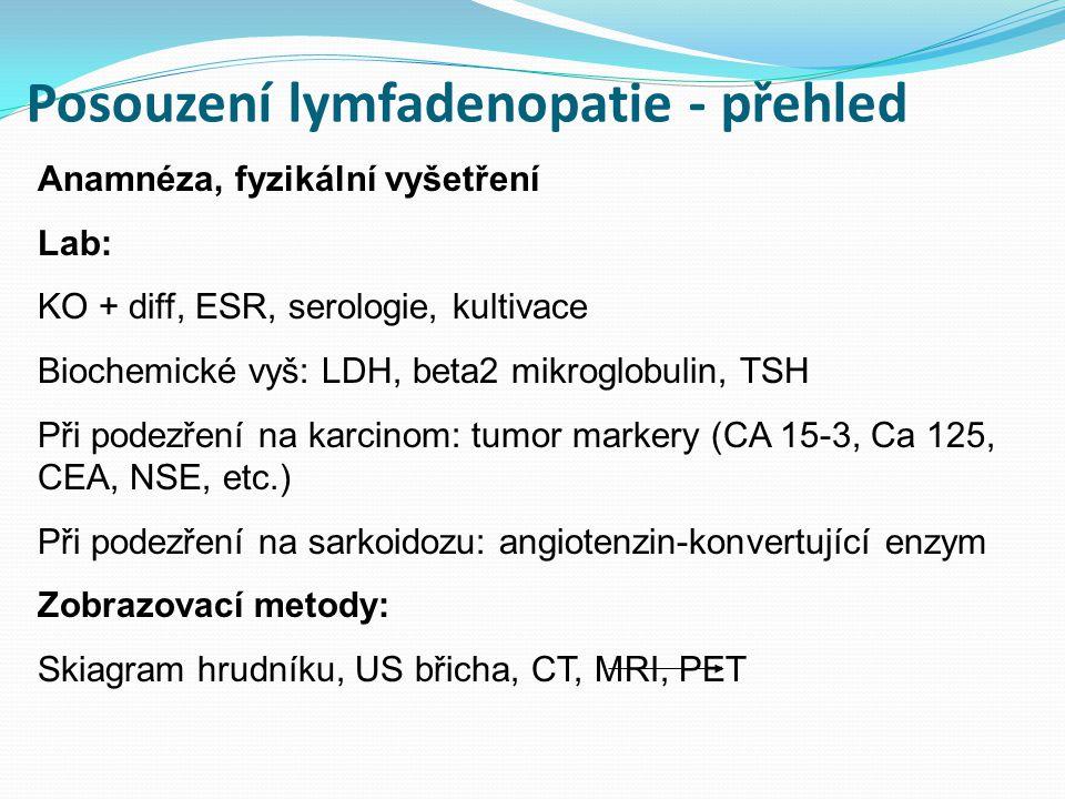 Posouzení lymfadenopatie - přehled