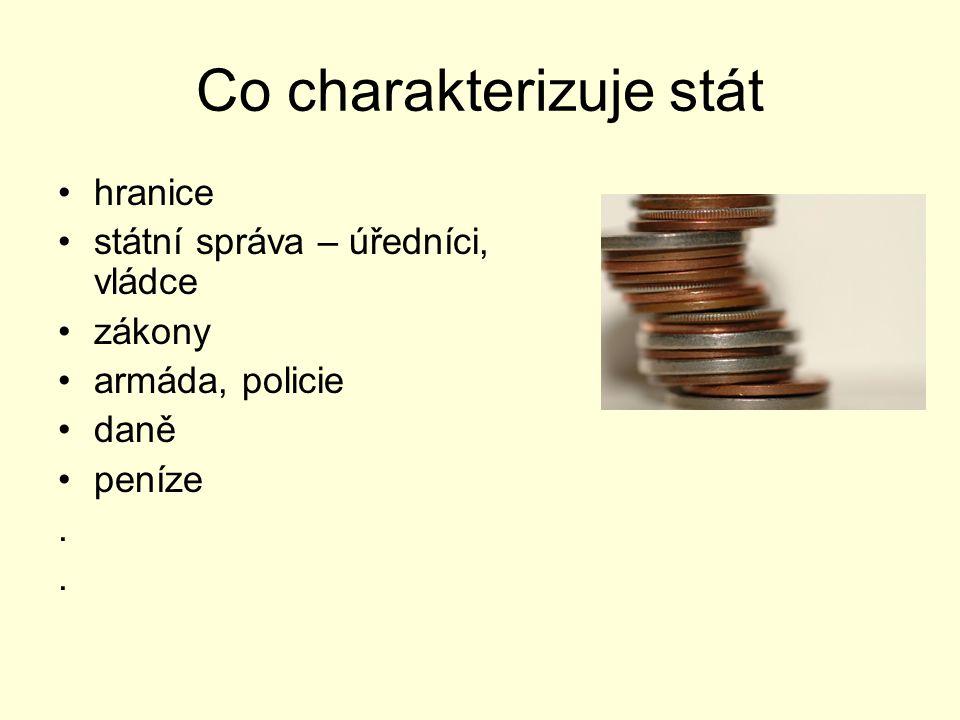 Co charakterizuje stát