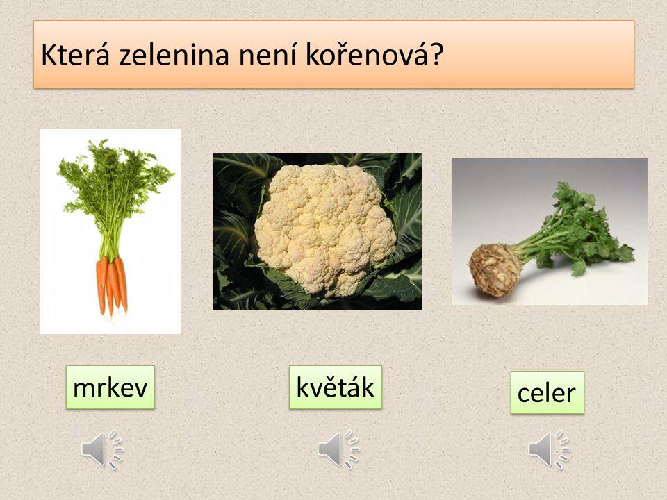 Která zelenina není kořenová