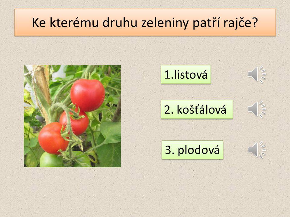 Ke kterému druhu zeleniny patří rajče