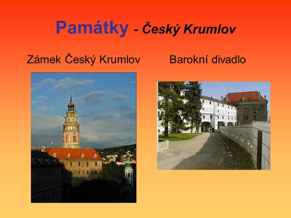 Památky - Český Krumlov