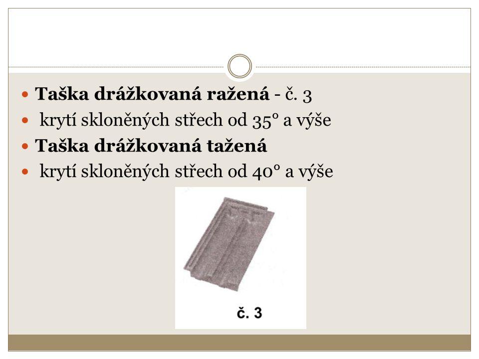 Taška drážkovaná ražená - č. 3