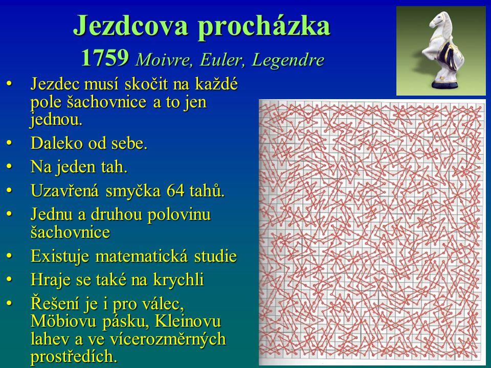 Jezdcova procházka 1759 Moivre, Euler, Legendre
