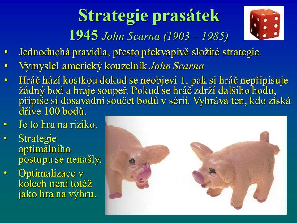 Strategie prasátek 1945 John Scarna (1903 – 1985)