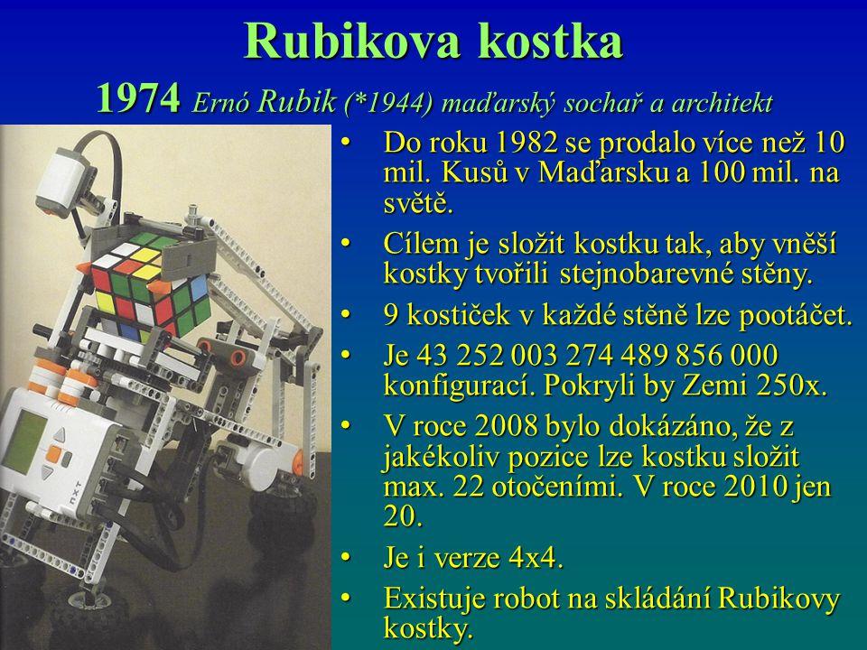 1974 Ernó Rubik (*1944) maďarský sochař a architekt