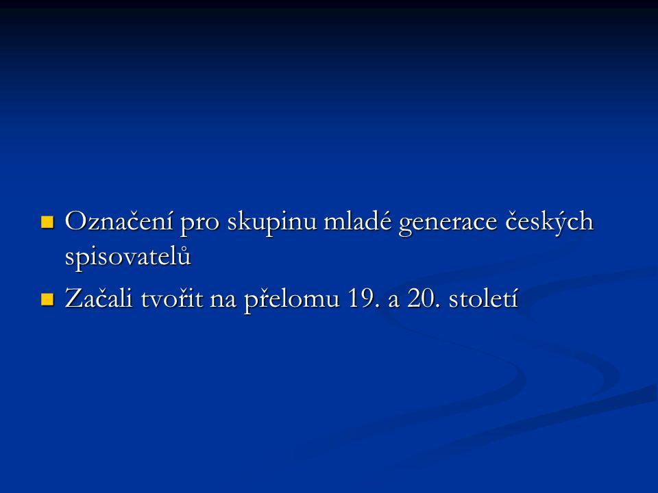 Označení pro skupinu mladé generace českých spisovatelů