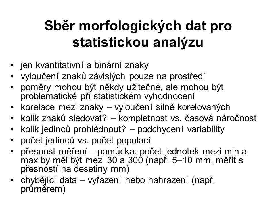 Sběr morfologických dat pro statistickou analýzu